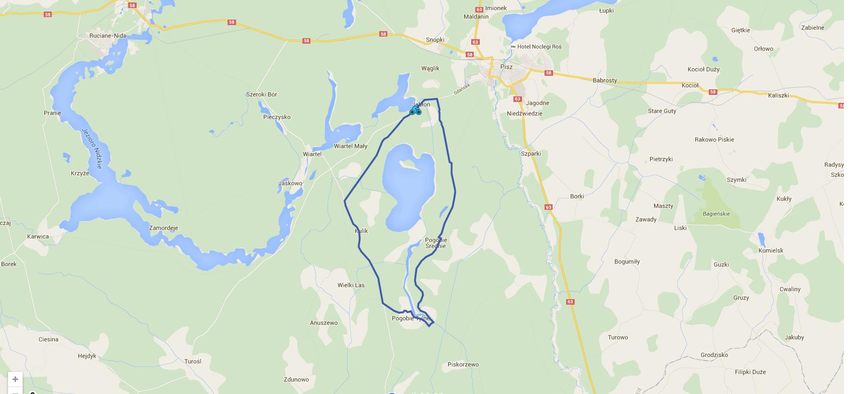 Around the reserve of Pogubie Wielkie Lake